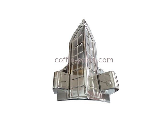 Silver Cross Decoration Coffin Parts Steel Bars For Funeral Casket